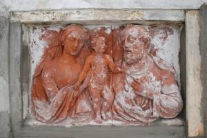 Formella in terracotta, S. Alessio - Lucca, sec. XVIII